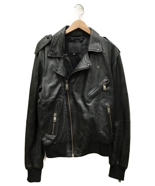 MCQ(マックキュー)MCQ (マッキュー) ラムレザージャケット ブラック サイズ:IT46の古着・服飾アイテム