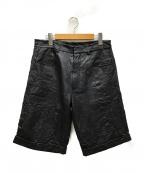 MCQ(マックキュー)の古着「レザーハーフパンツ」 ブラック