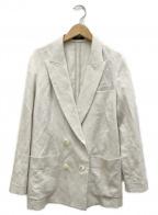 allureville(アルアバイル)の古着「リネン混ピケダブルブレストジャケット」|ベージュ