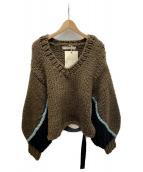 LEINWANDE(ラインヴァンド)の古着「nuts Over Knit」|ブラウン