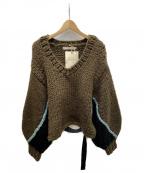 LEINWANDE()の古着「nuts Over Knit」|ブラウン