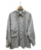 E.TAUTZ(イートウツ)の古着「lineman shirt」|ブラック×ホワイト