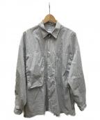 E.TAUTZ(イートーツ)の古着「lineman shirt」|ブラック×ホワイト