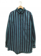 BALENCIAGA()の古着「Big Denim Shirt」|ブルー×ネイビー