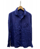 ()の古着「リネンシャツ」|ブルー