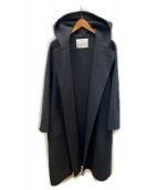 ANAYI(アナイ)の古着「ウールベルト付 リバーシャルムフードコート」|ライトグレー