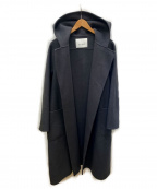 ANAYI()の古着「ウールベルト付 リバーシャルムフードコート」 ライトグレー