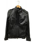 SHELLAC(シェラック)の古着「レザージャケット」|ブラック