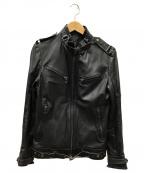 SHELLAC(シェラック)の古着「レザージャケット」 ブラック