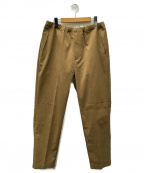 DESCENTE()の古着「EASY TAPERED PANTS」|ブラウン