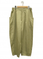 Dulcamara(ドゥルカマラ)の古着「よそいきオーバータックパンツ」 ベージュ