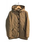 ()の古着「フーデッドキルティングジャケット」 ベージュ