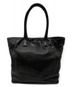()の古着「レザーハンドバッグ」 ブラック