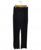 PHEENY(フィーニー)の古着「ビッグワッフルスリットパンツ」 ブラック