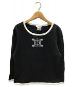 CELINE(セリーヌ)の古着「プリントカットソー」|ブラック
