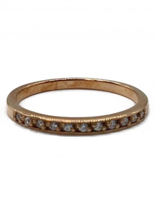 4℃(ヨンドシー)4℃ (ヨンドシー) ダイヤ付K10リング ゴールド サイズ:表記なしの古着・服飾アイテム
