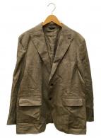 ()の古着「リネンテーラードジャケット」|ブラウン