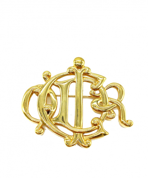 Christian Dior(クリスチャン ディオール)Christian Dior (クリスチャン ディオール) エンブレムロゴモチーフブローチの古着・服飾アイテム
