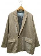 ()の古着「よそいきパネルジャケット」|ベージュ×グレー