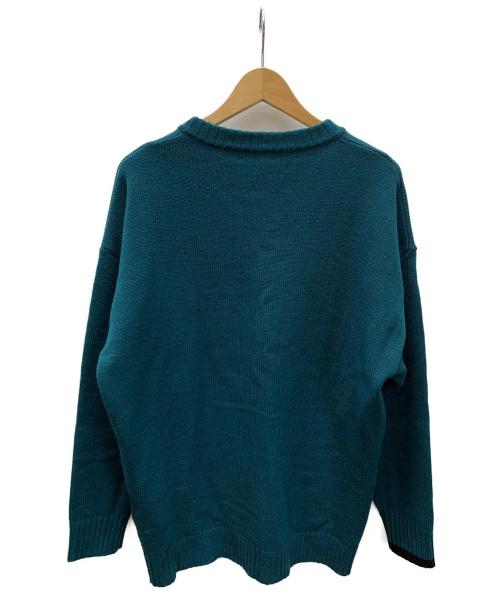DIESEL(ディーゼル)DIESEL (ディーゼル) ロゴプリントビッグニット グリーン×ブラック サイズ:表記なしの古着・服飾アイテム