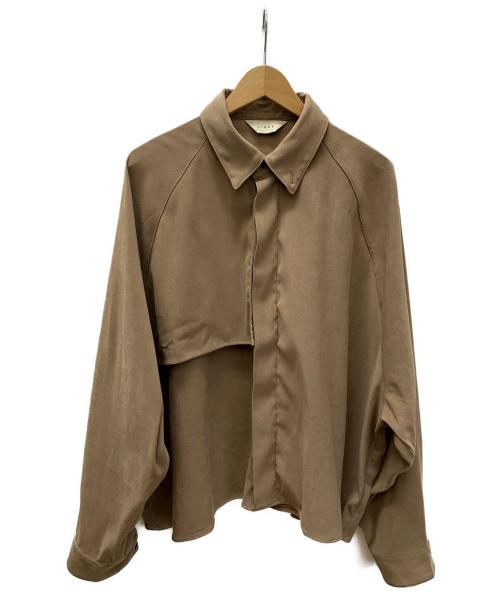 jieda(ジエダ)jieda (ジエダ) クロップドビッグトレンチシャツ ベージュ サイズ:SIZE 2の古着・服飾アイテム