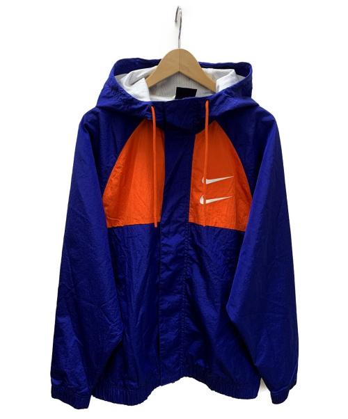NIKE(ナイキ)NIKE (ナイキ) フーデッドウーブンジャケット ブルー×オレンジ サイズ:SIZE Lの古着・服飾アイテム