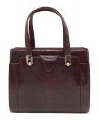 ()の古着「リザードハンドバッグ」|ボルドー