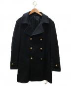 TAGLIATORE(タリアトーレ)の古着「金釦ロングPコート」|ネイビー