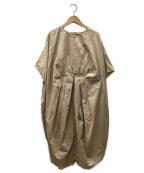FRAPBOIS(フラボア)の古着「ボリュームワンピース」 ベージュ