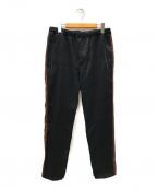 bukht(ブフト)の古着「サイドラインパンツ」 ブラック