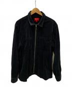 SUPREME()の古着「ベロアスイングトップ」|ブラック