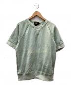 RRL(ダブルアールエル)の古着「製品染め半袖スウェット」|ダスティーグリーン
