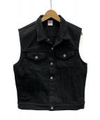 IRON HEART(アイアンハート)の古着「21ozエクストラヘビー黒鎧トラッカーベスト」|ブラック