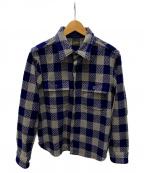 TENDERLOIN()の古着「バッファローCPOジャケット」|パープル×グレー