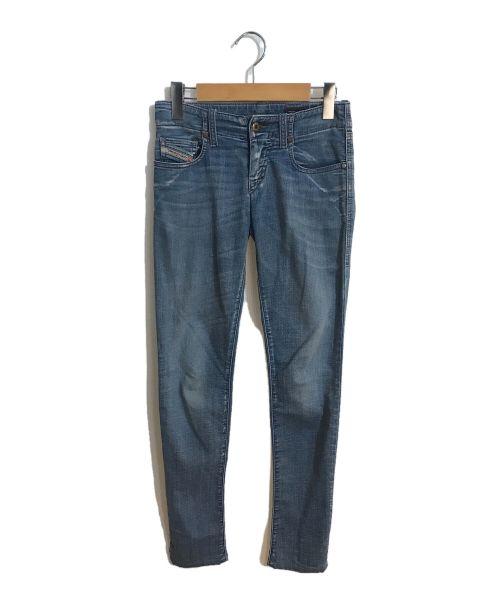 DIESEL(ディーゼル)DIESEL (ディーゼル) スーパースリムストレッチデニムパンツ スカイブルー サイズ:23の古着・服飾アイテム