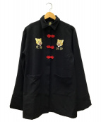 ()の古着「カンフービッグシャツジャケット」 ブラック