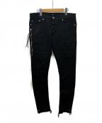 MR.COMPLETELY(ミスターコンプリートリー)の古着「スキニーパンツ」|ブラック