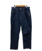 ()の古着「バックロゴ刺繍デニムパンツ」|インディゴ