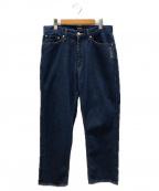 X-LARGE(エクストララージ)の古着「バックロゴ刺繍デニムパンツ」|インディゴ
