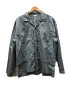 WELLDER(ウェルダー)の古着「Layered Open Collar Shirt」|スカイブルー