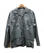WELLDER(ウェルダー)の古着「Layered Open Collar Shirt」 スカイブルー