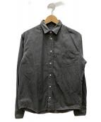 ()の古着「製品染めコットンシャツ」|ブラック