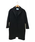 PRADA(プラダ)の古着「トッパーウールコート」|ブラック
