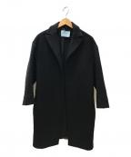 PRADA()の古着「トッパーウールコート」|ブラック