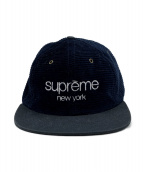 SUPREME(シュプリーム)の古着「classic logo cap」|ネイビー