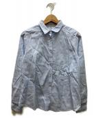 ()の古着「総柄シャツ」|スカイブルー