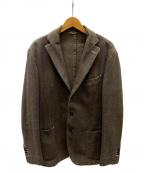 L.B.M.1911(ルビアム1911)の古着「ヘリンボーンヘビーコットンテーラードジャケット」|ブラウン