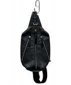 ()の古着「レザーミニボディーバッグ」|ブラック