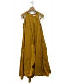()の古着「ダブルストラップドレス」|マスタード
