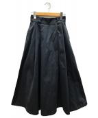 ()の古着「タックロングスカート」 ネイビー
